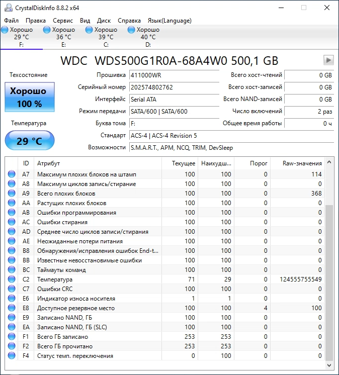 CDI NAS SSD WD Red SA500 500Gb WDS500G1R0A
