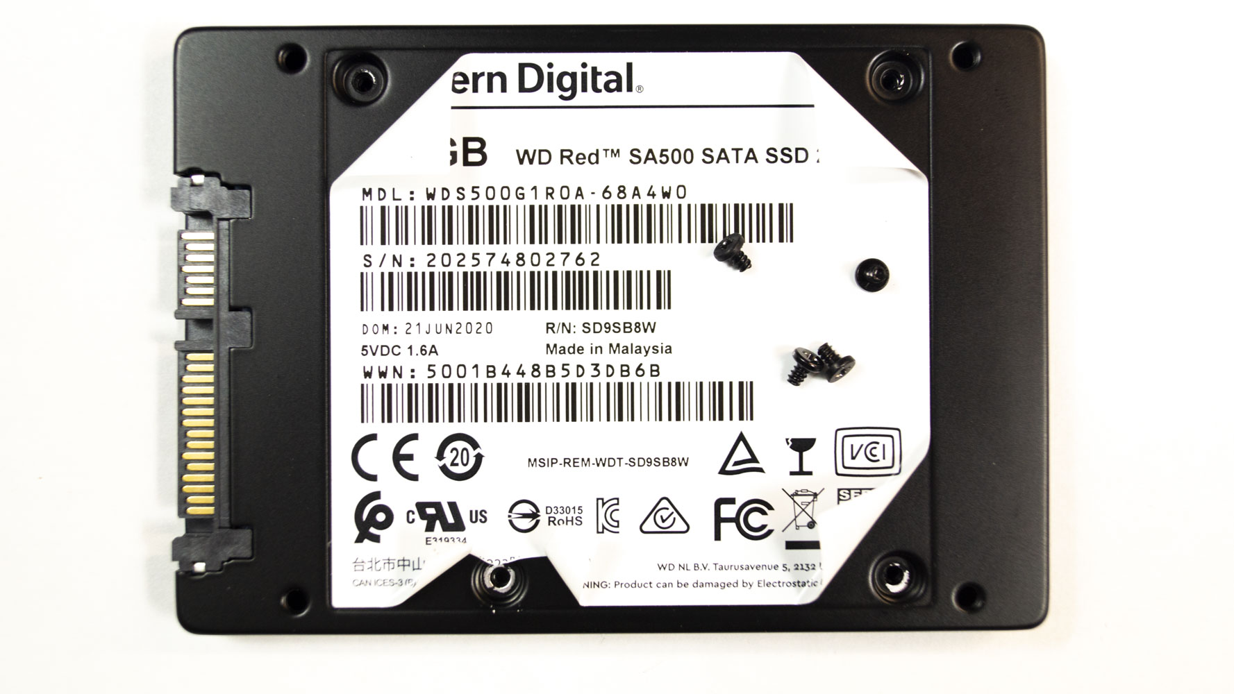 NAS SSD WD Red SA500 500Gb WDS500G1R0A